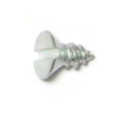 "Wood Screw #10x3//4"" Slotted Flat Head Nickel"