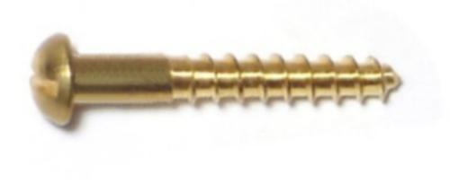 "#8 x 3//4/"" Wood Screw Phillips Round Head Brass"