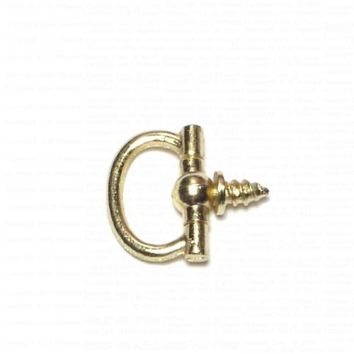 "Midwest Fastener® 3/4"" Brass Decorative Oval Ring Hangers - 5 Pack"
