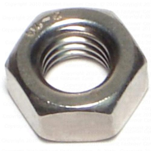 1//4-20 Coarse Thread Finished Hex Nut Stainless Steel 316 Pk 50