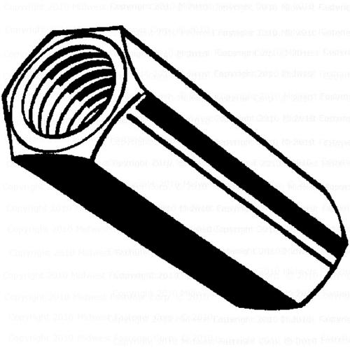 Midwest Fastener® 8mm-1 25 Zinc Coupling Nut - 1 Count at