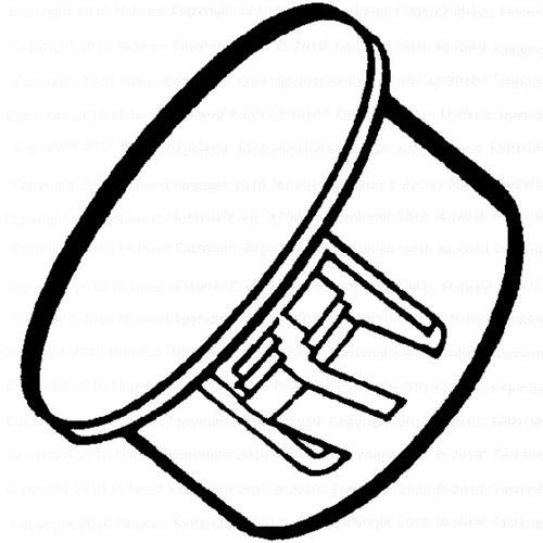 Midwest Fastener 78 White Hole Plug