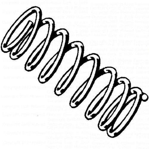 Midwest Fastener 38 X 1 12 Zinc Compression Spring