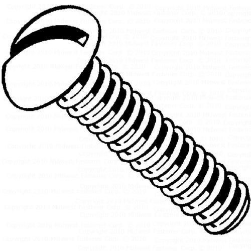 "Midwest Fastener® #6-32 x 3/4"" Slotted Drive Plain Round Head Machine Screw - 40 Count"