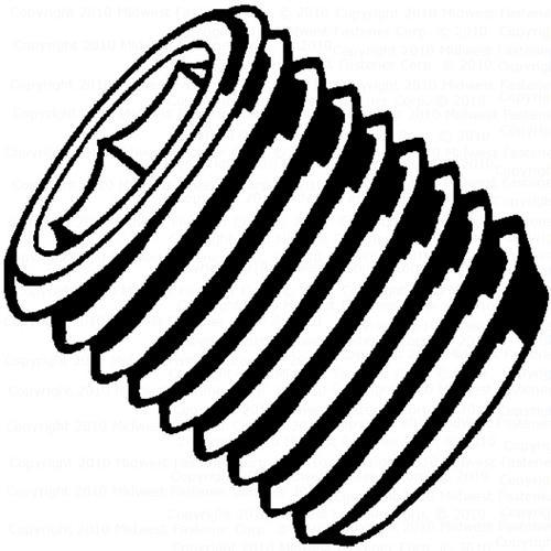 "Midwest Fastener® 5/16""-18 x 3/8"" Coarse Headless Socket Set Screw - 7 Count"