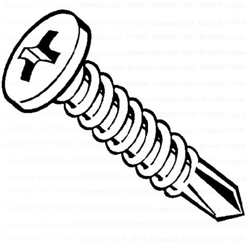 """8G X 3//4/""""  Slotted Pan Head Self Tapping Screws Stainless DIN 7971-100PK"""
