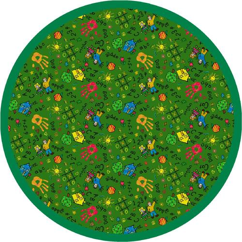 Round Green Area Rugs.Milliken Round Scribbles Area Rug 7 7 X 7 7 At Menards
