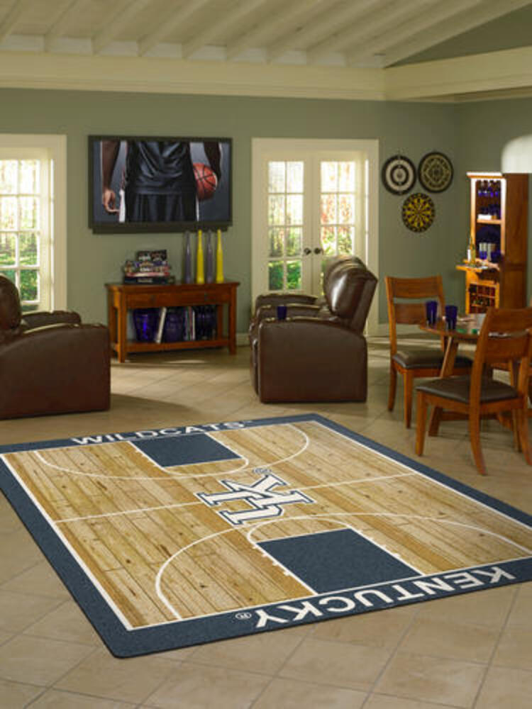 Duke College Home Basketball Court Rug 54x78