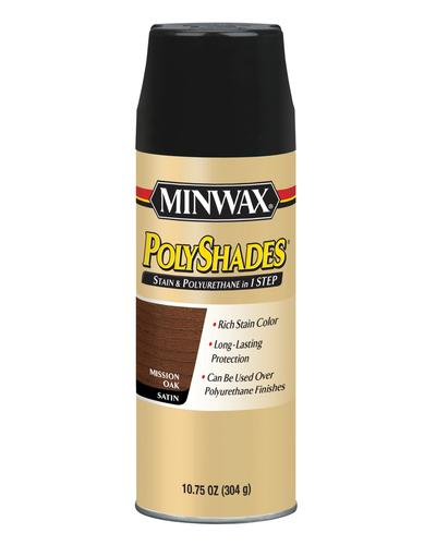 Minwax® Polyshades® Satin Mission Oak Stain and Polyurethane Aerosol on minwax red oak, minwax provincial oak, minwax colors on oak, minwax honey oak, minwax polyshades on oak, minwax weathered oak, minwax stain pickled oak 260, minwax jacobean on white oak hardwoods, sherwin-williams mission oak,