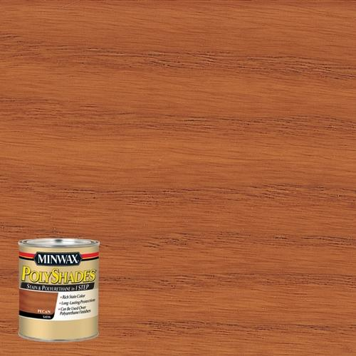 Minwax Polyshades Satin Pecan Stain And Polyurethane 12 Pt At