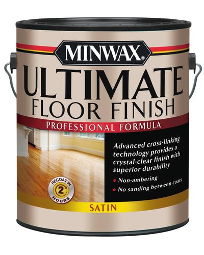 Minwax Interior Water Based Clear Ultimate Wood Floor Finish Polyurethane 1 Gal At Menards