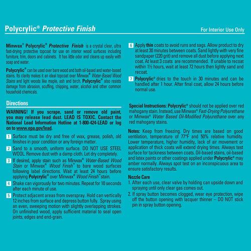 Minwax® Polycrylic® Clear Protective Finish Spray at Menards®