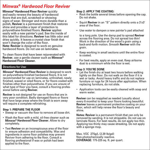 Minwax Hardwood Floor Reviver 1 Qt At Menards