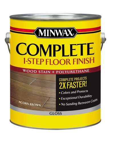 Minwax 174 Complete 1 Step Floor Finish Acorn Brown Gloss 1