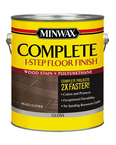 Minwax Complete 1 Step Floor Finish Aged Leather Gloss Gal