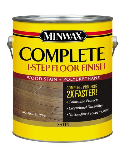 Minwax 174 Complete 1 Step Floor Finish Acorn Brown Satin 1