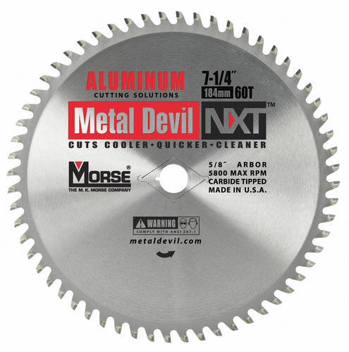 "Morse Metal Devil 7-1//4/"" 68T Thin Steel Circular Saw Blade MADE IN USA"