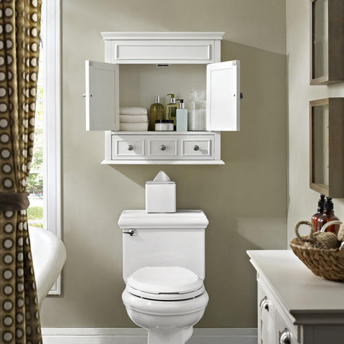 """White Kitchen Cabinets At Menards: Crosley Lydia 24.25""""W X 25.75""""H White Wall Cabinet At Menards®"""