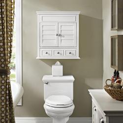 Crosley Lydia 24 W X 9 D X 26 H White Bathroom Wall Cabinet At Menards