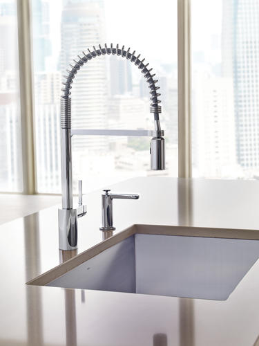 Moen® Align® One-Handle Pre-Rinse Spring Pull-Down Kitchen Faucet at ...