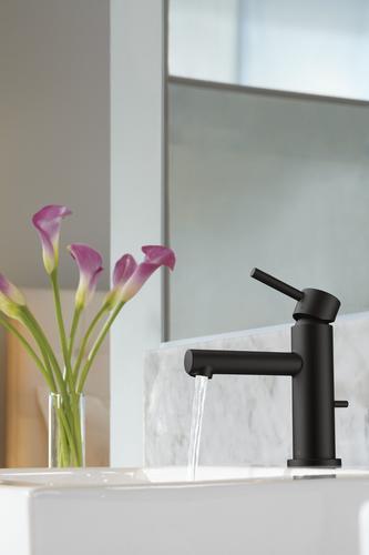 Moen 174 Align 174 One Handle 4 Quot Centerset Bathroom Faucet Matte