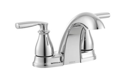 Moen Hilliard Two Handle Low Arc 4 Centerset Bathroom Faucet At