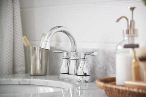 "7 Faucet Finishes For Fabulous Bathrooms: Moen® Hilliard™ Two-Handle 4"" Centerset Bathroom Faucet At"