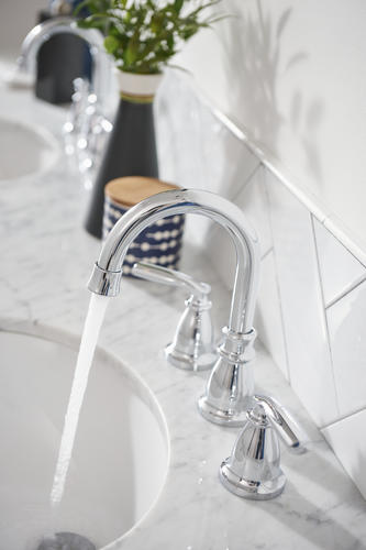 "Moen® Hilliard™ Two-Handle 8"" Widespread Bathroom Faucet"