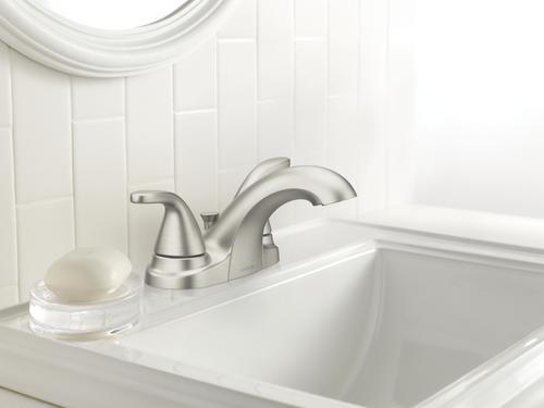 Moen Adler Two Handle 4 Centerset Bathroom Faucet Spot Resist