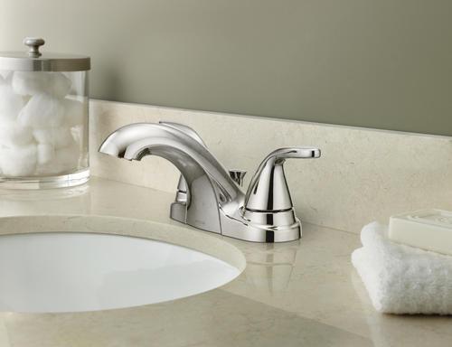 Moen Adler Two Handle 4 Centerset Bathroom Faucet Chrome At