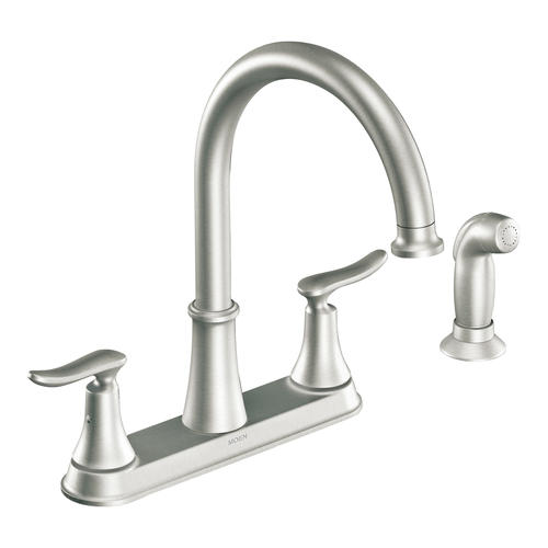 moen solidad two handle kitchen faucet at menards rh menards com  menards moen kitchen faucet parts
