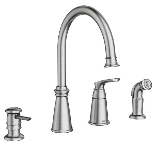 Moen Whitmore One Handle Spot Resist Stainless Kitchen Faucet At Menards