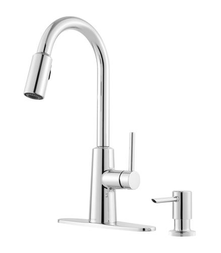 Moen® Nori™ One-Handle Pull-Down Kitchen Faucet with Reflex ...