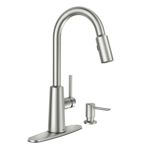 single x coil menards faucet pull down at tuscany kitchen volk faucets handle