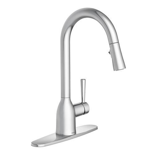 Moen Adler Single Handle High Arc Pulldown Kitchen Faucet At Menards