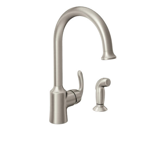Moen Bayhill One Handle Spot Resist Stainless Kitchen Faucet