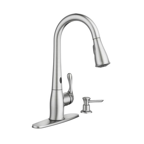 Moen® Ridgedale With MotionSense™ One Handle Pull Down Touchless Kitchen  Faucet With