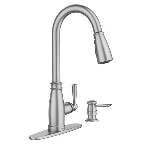Moen® Morado™ Single-Handle High Arc Pulldown Kitchen Faucet ...