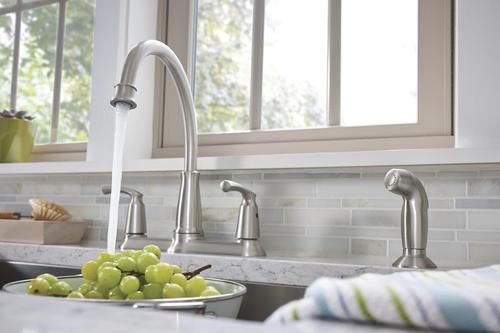 Moen Bexley Two Handle Kitchen Faucet At Menards