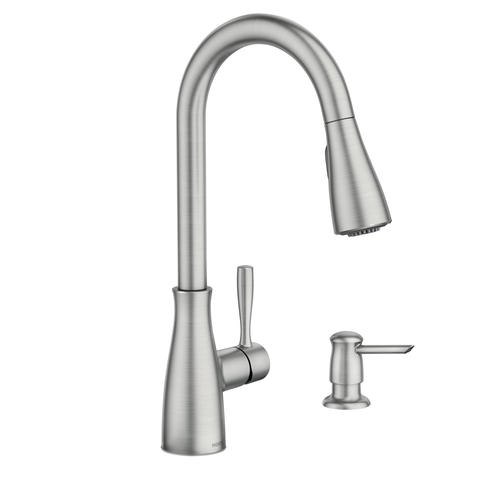 Moen® Lucira™ Single-Handle High Arc Pulldown Spot Resist