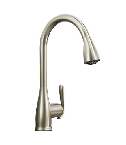 Moen® Haysfield™ One-Handle Pull-Down Kitchen Faucet with ...