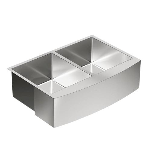 Moen 1800 Series Farmhouse A Front 30 Stainless Steel Double Bowl Sink