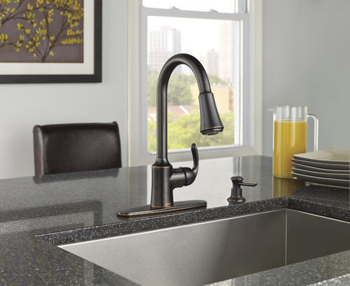 Moen® Bayhill™ One-Handle Pull-Down Kitchen Faucet With