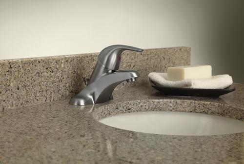 Moen Adler One Handle 4 Centerset Bathroom Faucet With Drain
