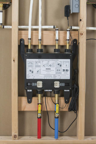 U by Moen 4-Outlet Thermostatic Digital Shower Valve at Menards®