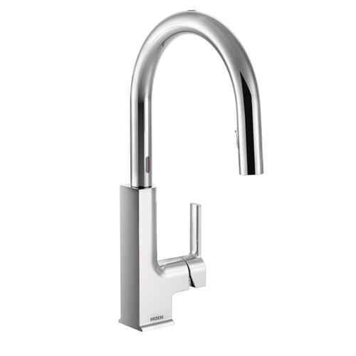 Moen Sto With Reflex And Motionsense One Handle Pull Down Touchless Kitchen Faucet At Menards