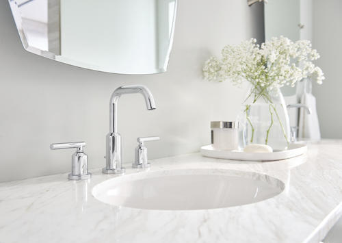 """Moen® Gibson™ Two-Handle 8"""" Widespread Bathroom Faucet Trim Only at Menards®"""