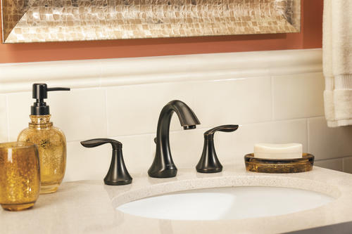 "Moen® Eva® Two Handle 8"" Widespread Bathroom Faucet Oil-Rubbed Bronze -"