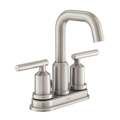 "Moen® Gibson™ Two-Handle 4"" Centerset Bathroom Faucet - Spot Resist®"