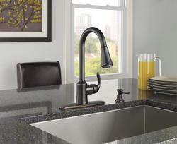 Moen 174 Bayhill One Handle Pull Down Kitchen Faucet With
